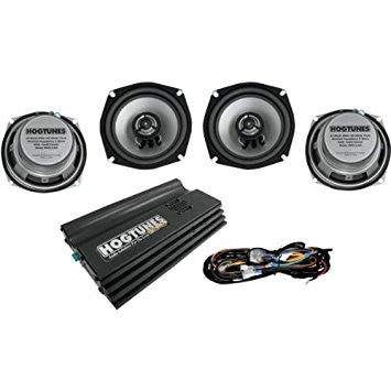 BIG ULTRA FRONT/REAR REPLACEMENT SPEAKER KIT W/FOUR CHANNEL AMPLIFIER, '98-'13 DRESSERS EXC