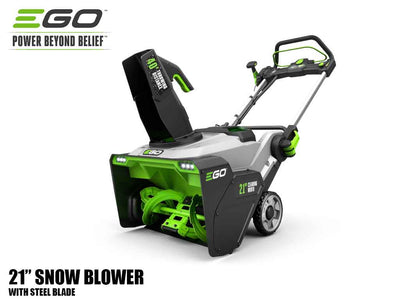 "EGO 21"" Power Plus snow blower with peak power and steel blade"