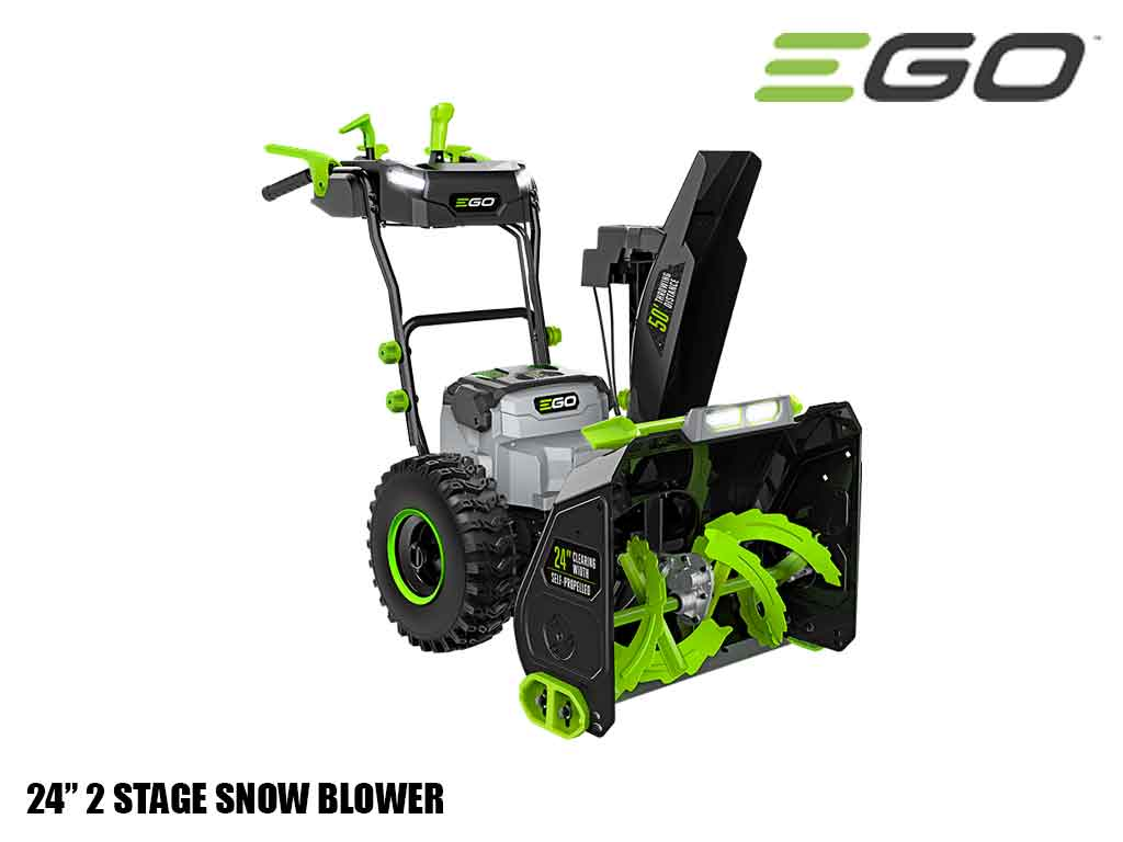 "EGO Power plus 24"" self propelled 2 stage snow blower with peak power"
