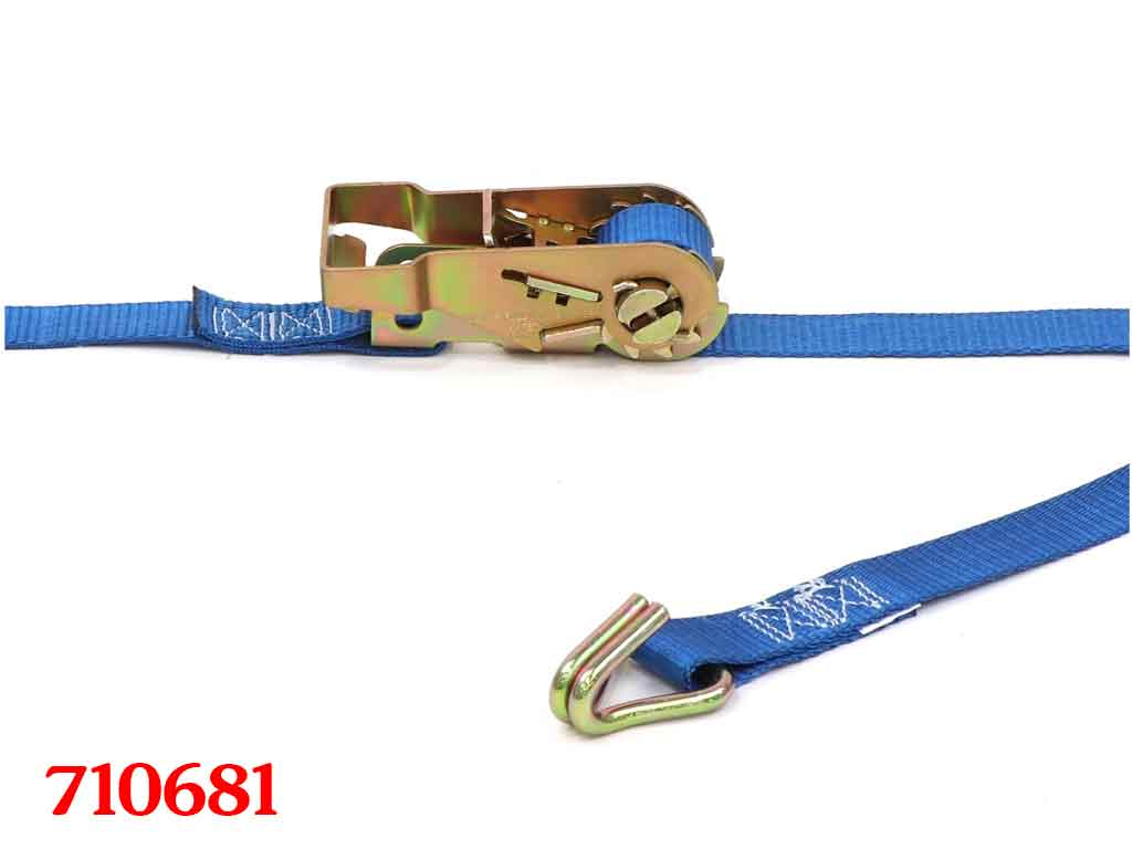 512784 2 x 27 Cargo Ratchet Strap with Wire Hook and Wide Handle Ratchet Kinedyne