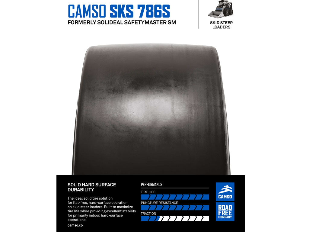CAMSO SKS 786S TIRE & RIM ASSEMBLY, (SSL) SKID STEER LOADER