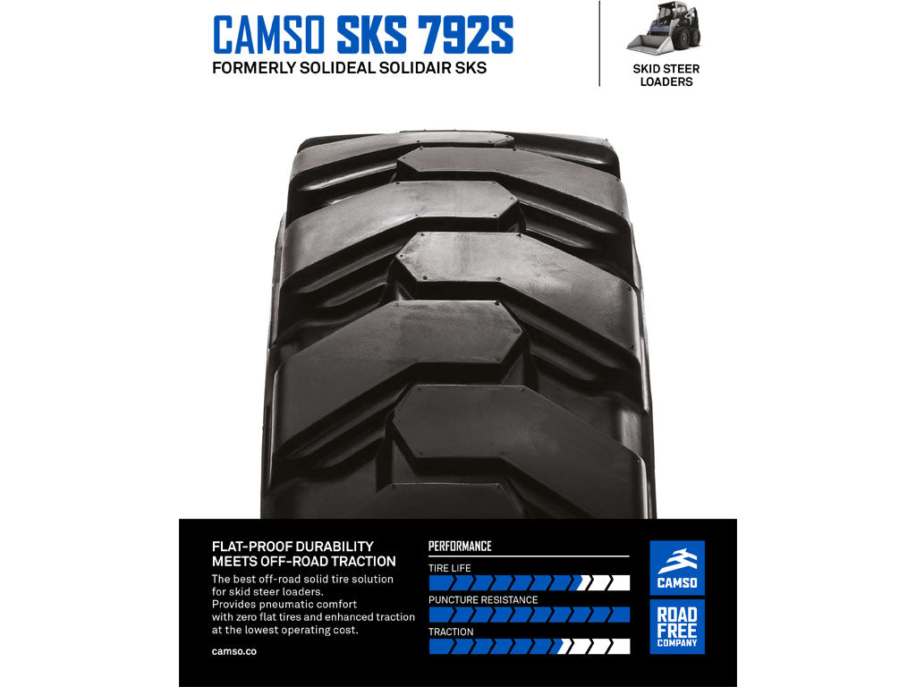CAMSO SKS 792S TIRE & RIM ASSEMBLY, (SSL) SKID STEER LOADER