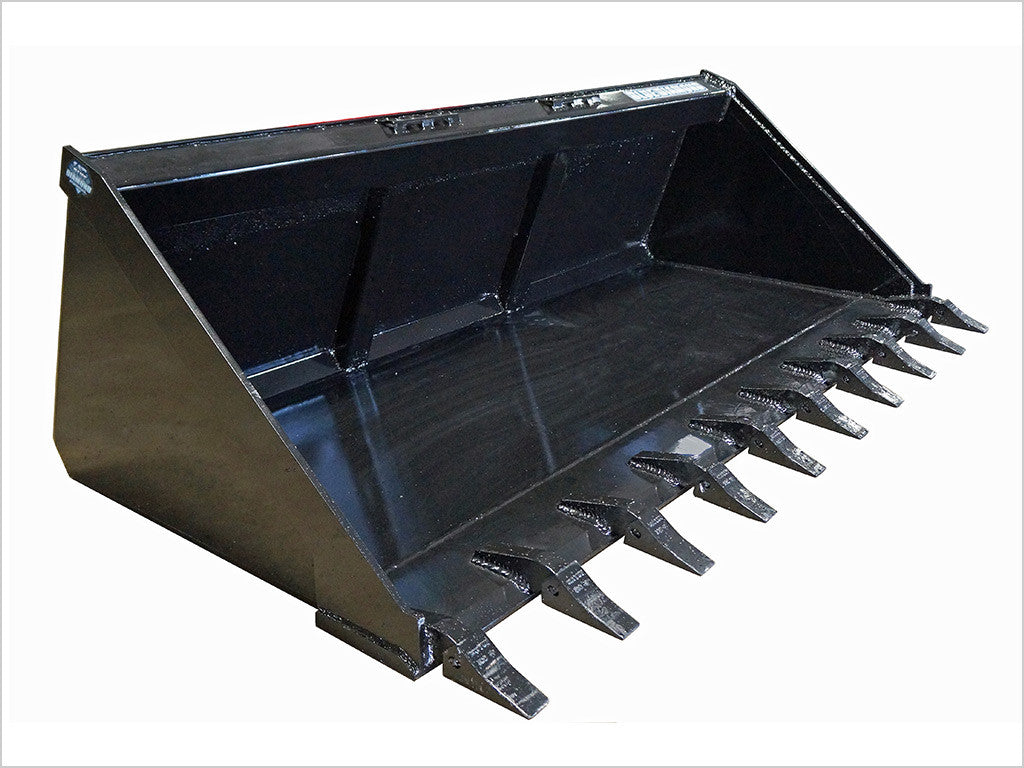 "BLUE DIAMOND SEVERE DUTY BUCKET FOR SKID STEER, 78"" LONG BOTTOM TOOTH"