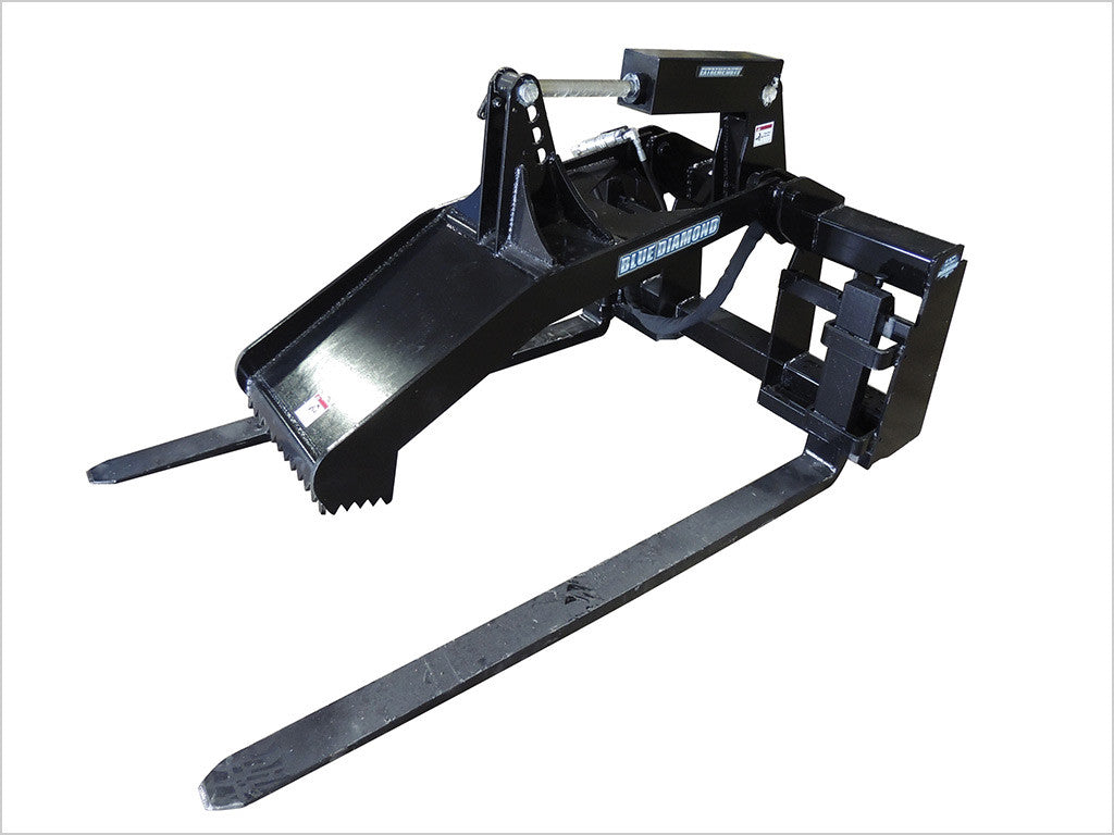 "BLUE DIAMOND MAT GRAPPLE FORK FOR SKID STEER, W/ 60"" TINES"