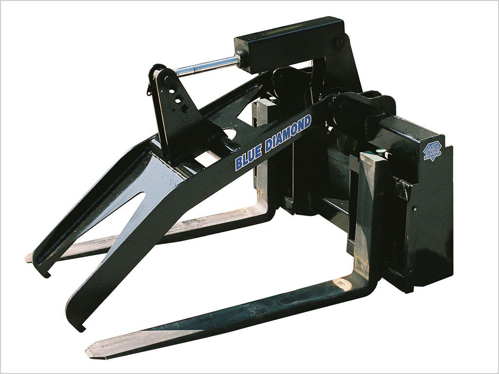 "BLUE DIAMOND GRAPPLE FORK FRAME FOR SKID STEER, W/ 48"" TINES"