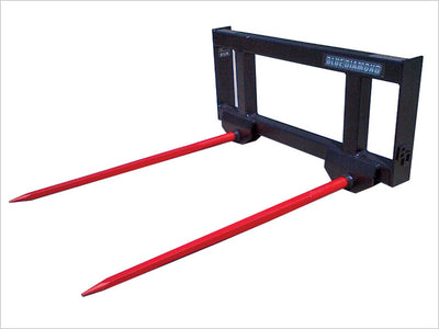 BLUE DIAMOND HAY SPEAR FOR SKID STEER, DOUBLE SPEAR
