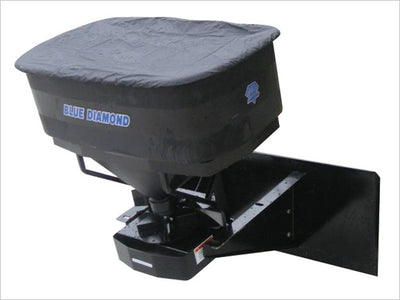 "BLUE DIAMOND MATERIAL SPREADER FOR SKID STEER, OR 2"" HITCH"