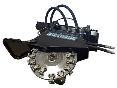 "BLUE DIAMOND STUMP GRINDER, EXTREME DUTY, HIGH FLOW, 26"" WHEEL, (SSL)(CTL)"