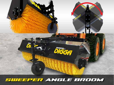 DIGGA ANGLE BROOM, HYDRAULIC PIVOT (SSL)(CTL)