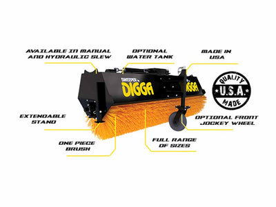 DIGGA ANGLE BROOM, MANUAL PIVOT (SSL)(CTL)