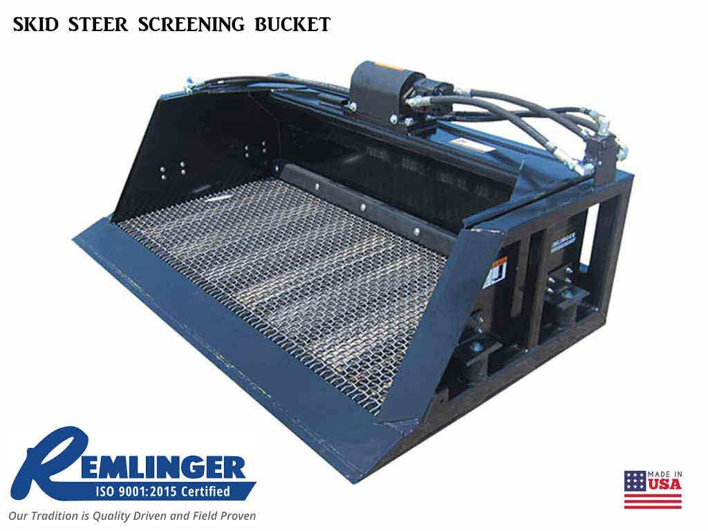 Remlinger Series 700 Skid Steer Screening Bucket (SSL)(CTL)