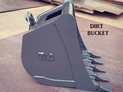 TAG quick coupler bucket, Manual hook, 12000 lb to 16000 lb excavators & backhoes (EXC)(TLB)