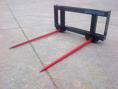 BLUE DIAMOND HAY SPEAR FOR SKID STEER, DOUBLE SPEAR (CTL)(SSL)