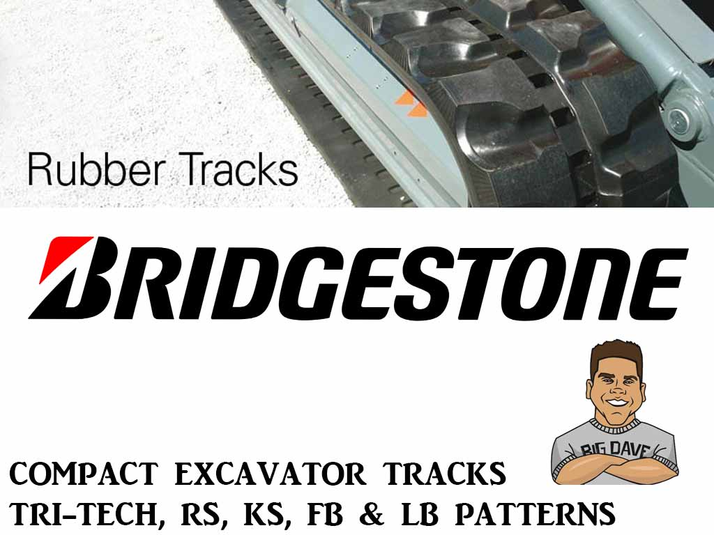 BRIDGESTONE RUBBER TRACK, TRI-TECH, 450X76X81KS, BOBCAT E80, E85