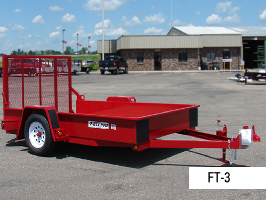 FELLING FT-3 DROP DECK UTILITY TRAILER