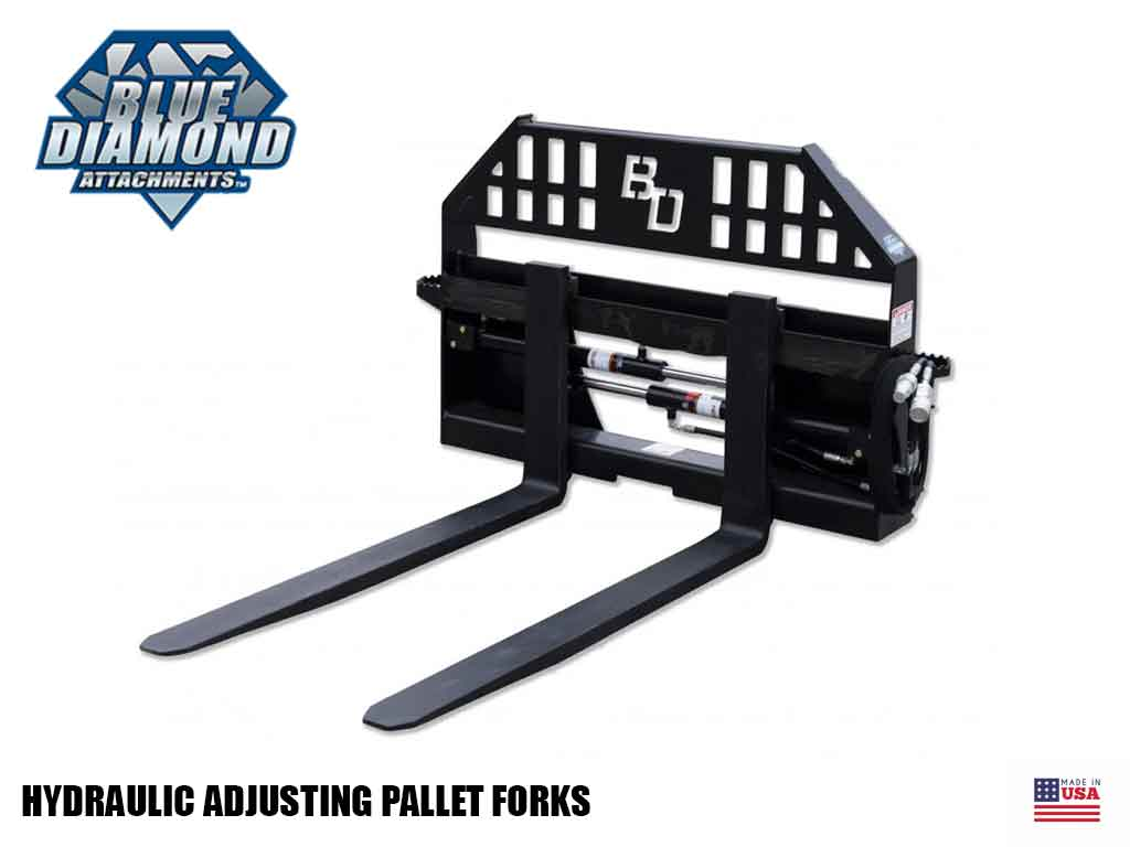 BLUE DIAMOND HYDRAULIC ADJUSTING PALLET FORKS
