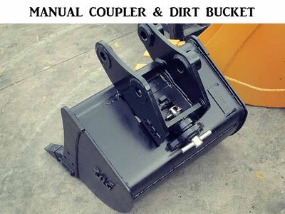 TAG quick coupler bucket, Manual hook, 33000 lb to 45000 lb excavators (EXC)
