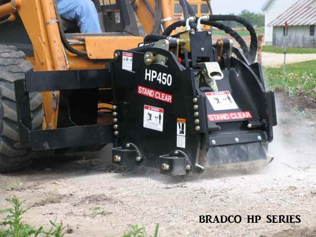 BRADCO HP series cold planer, High flow (SSL)(CTL)
