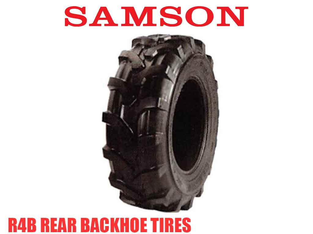 Samson R4B rear backhoe tires (TLB)