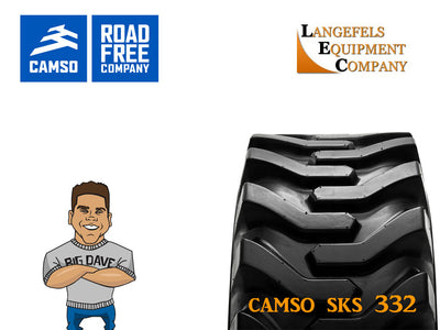 CAMSO SKS 332 TIRE, (SSL) SKID STEER LOADER