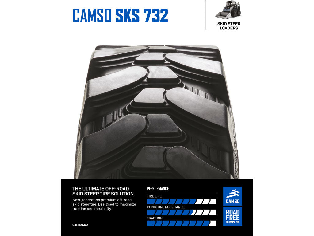 CAMSO SKS 732 TIRE, (SSL) SKID STEER LOADER