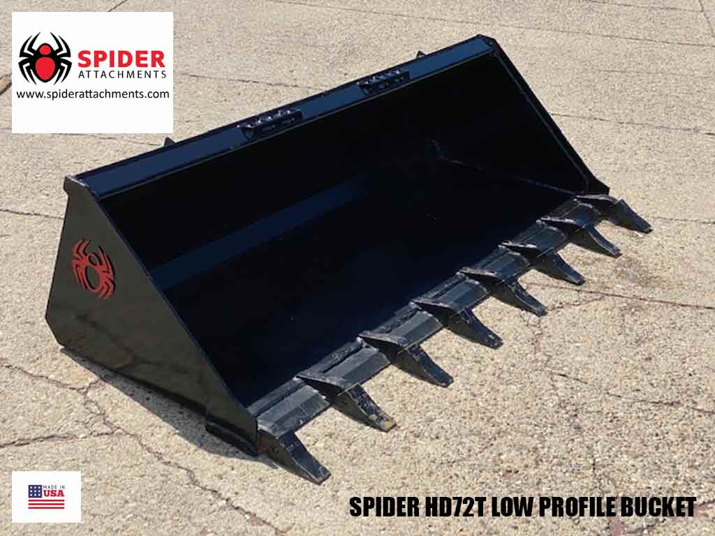 SPIDER Heavy Duty Low Profile Bucket, aftermarket sizes (SSL)(CTL)