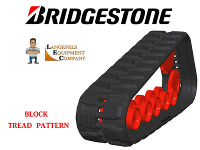 BRIDGESTONE RUBBER TRACK, BLOCK PATTERN, 457X51X101.6, CAT 277C, 277D, 287C, 297C