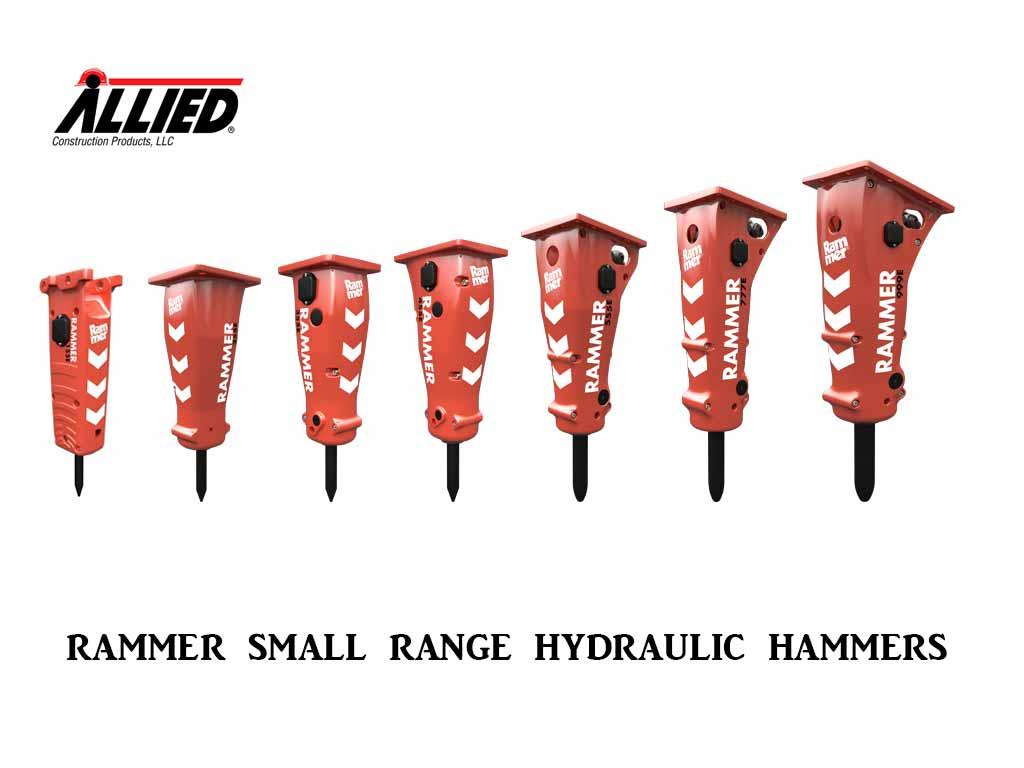 ALLIED RAMMER SERIES HAMMERS, SMALL RANGE (SSL)(CTL)(EXC)(ML)