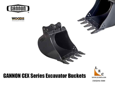 WOODS / GANNON CEX Series mini excavator buckets, 4500-16000 lb class excavators