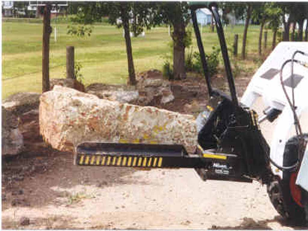 DPM nursery jaws JR tree forks hybrid style for skid steer loaders