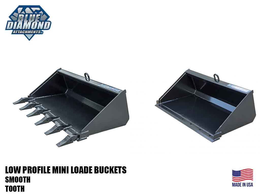 BLUE DIAMOND low profile buckets for mini loader