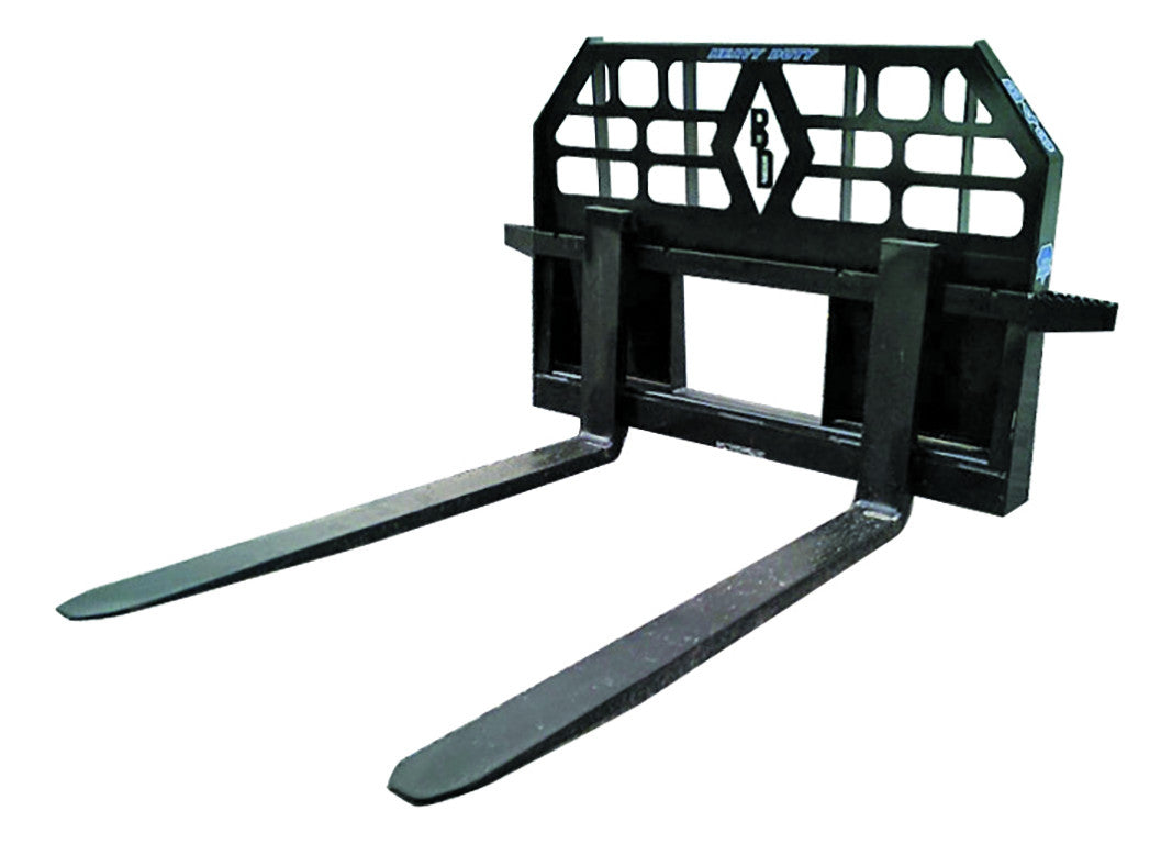 BLUE DIAMOND PALLET FORKS, HEAVY DUTY FRAME, (CTL, SSL)
