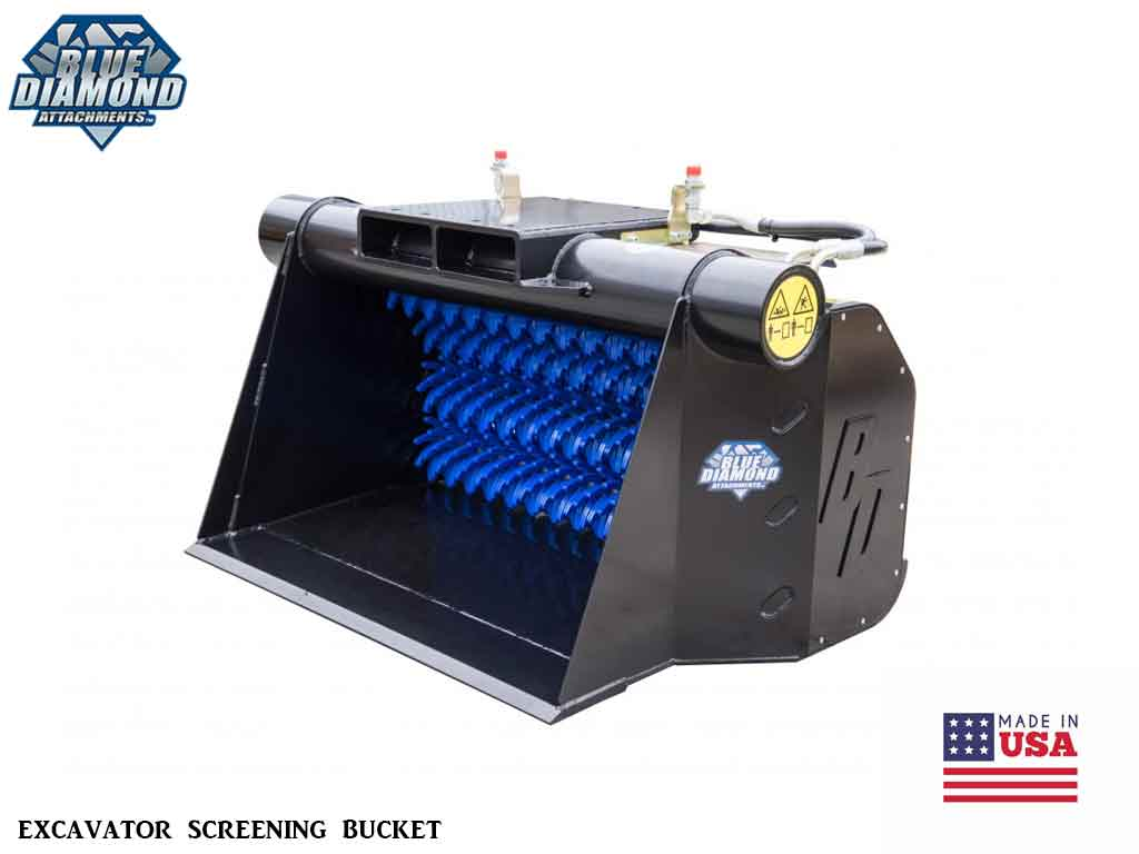 Blue Diamond Excavator Screening Bucket (EXC)