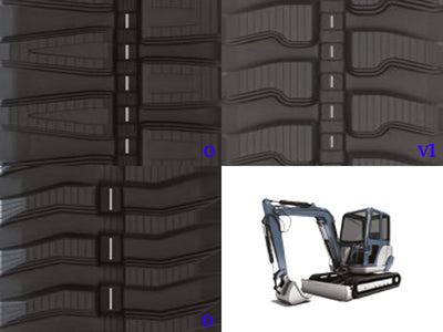 CAMSO SD SERIES RUBBER TRACK, 250x37x109, CAT 302.4D (EXC)