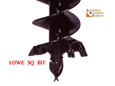 LOWE SQ SERIES AUGER BIT, ROUND SHAFT, 4' LENGTH, (SSL)(CTL)(EXC)