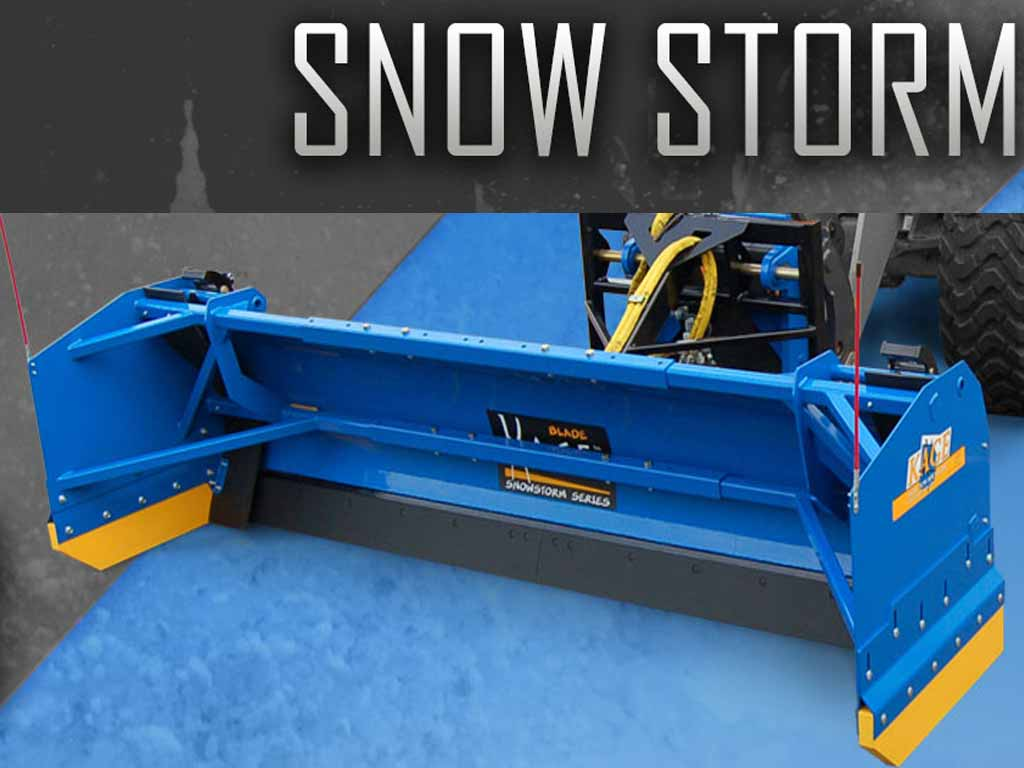 KAGE SNOWSTORM wheel loader / backhoe Snow Plow System (WL)(TLB)