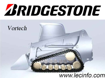 Bridgestone VORTECH Rubber Tracks, 320x52x86, H pattern, for IHI CL35 Compact Track Loader (CTL)