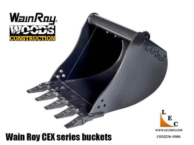 WAIN ROY CEX Series mini excavator buckets, 4500-16000 lb class excavators