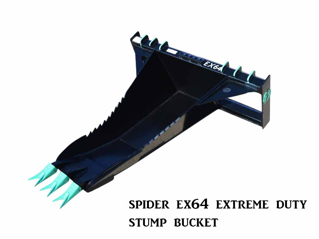 SPIDER EX64 EXTREME DUTY STUMP BUCKET (SSL)(CTL)
