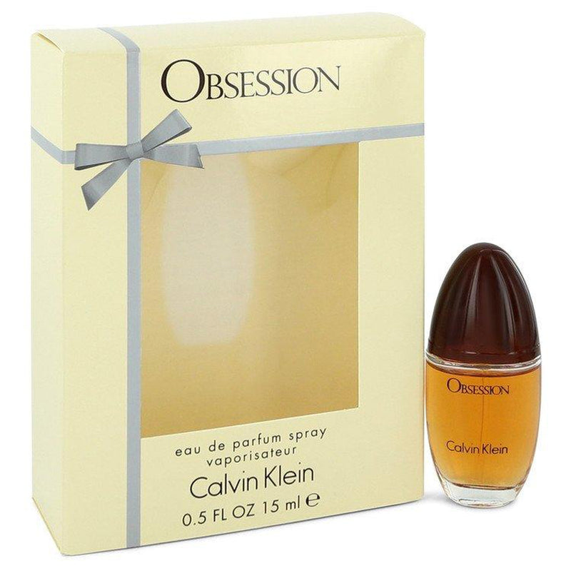 OBSESSION by Calvin Klein Eau De Parfum Spray .5 oz