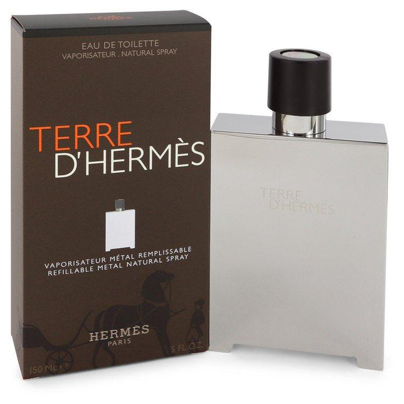 Terre D'Hermes by Hermes Eau De Toilette Spray Refillable (Metal) 5 oz