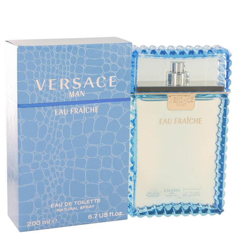 Versace Man by Versace Eau Fraiche Eau De Toilette Spray (Blue) 6.7 oz