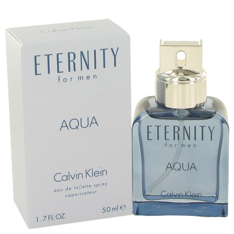 Eternity Aqua by Calvin Klein Eau De Toilette Spray 1.7 oz