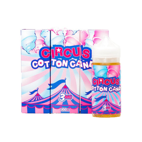 Circus Cotton Candy E-liquid by Puff Vapors (100mL)