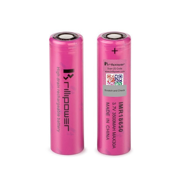 Brillipower 18650 3500Mah 30A Battery - Pink