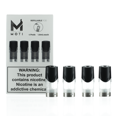 MOTI Refillable Replacement Pod Cartridges (Pack of 4)