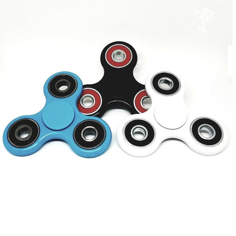 Tobeco Plastic Fidget Spinners with Colored Bearings