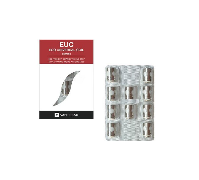 Replacement Coil Ceramic EUC by Vaporesso (Pack of 10)
