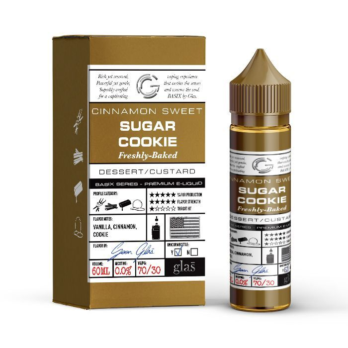 Glas Vapor Basix Series Sugar Cookie E-liquid (60ML)