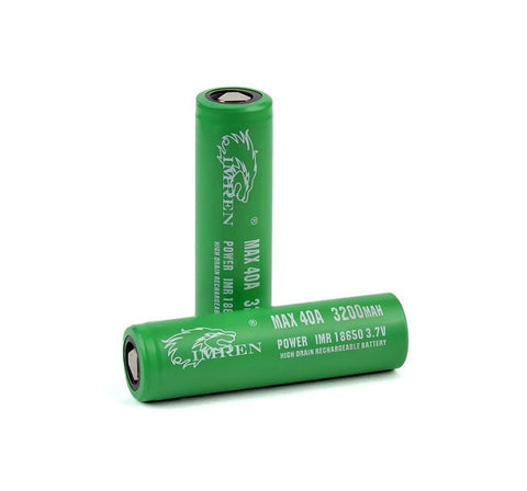 IMREN 3200 mAh 40A 18650 Battery (2 Pack)